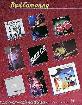 Bad Company 1979 Swan Song Records Original Catalog Promo Poster