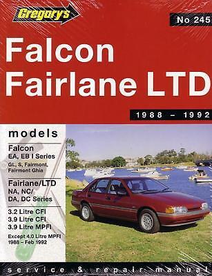 gregorys repair manual ford falcon ea eb fairlane na nc ebay rh ebay com Car Owners Manual User Manual