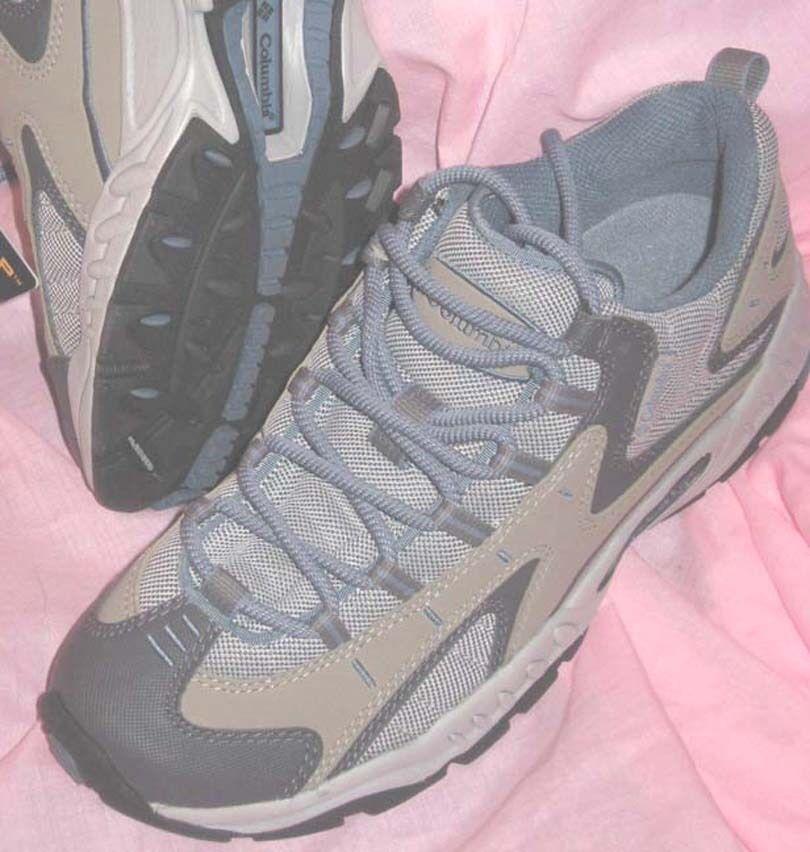 Women Columbia Sportswear Vertebrea Blue/taupe Size 10 Sneaker Hiking And Trail