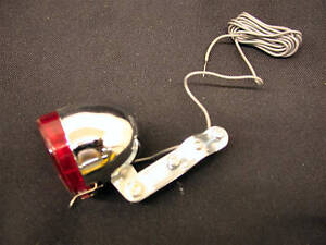 6 VOLT REAR DYNAMO LIGHT CLASSIC TRADITIONAL VINTAGE TYPE WITH BRACKET AND WIRE