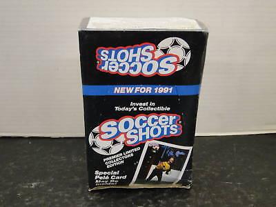 Sealed Box 1991 Soccer Shots Cards Mint Ib Sealed Counter Display Box