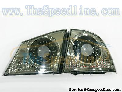 06+ Acura CSX BLACK SMOKE LED Tail Rear Lamp HONDA FD