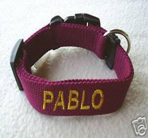 Hundehalsband-mit-Namen-BESTICKT