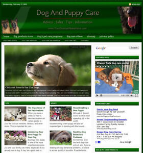 Established 'DOG & PUPPY CARE' Website For Sale ....(Websites by SITEGAP)