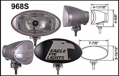 "8"" Silver Oval 55"" Super White Driving Lights Set"