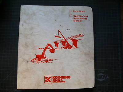 Koehring 1266d Excavator Crawler Trackhoe Parts Manual Book Catalog List Spare