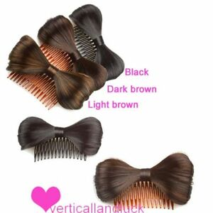 New-Cute-Bow-Bowknot-Wig-Hair-Clip-Comb-Fancy-Dress