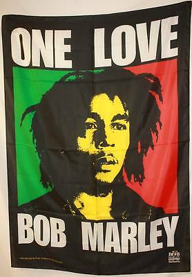 "BOB MARLEY One Love Rasta Reggae Cloth Poster Fabric Flag Tapestry 29""X43""-New!"