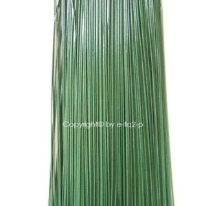 110 PIECE GREEN PLASTIC COATED 22 GAUGE FLORIST WIRE 9