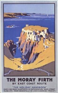 1920's Moray Firth LNER A3 Poster Reprint