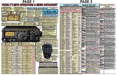 YAESU FT-897D FT-897 AMATEUR HAM RADIO DATACHART GRAPHIC INFORMATION (INDEXED)
