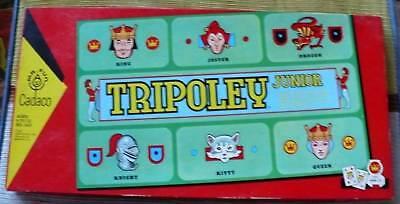 1962 Tripoley Junior Cadaco Pieces Unpunched 100% Unuse