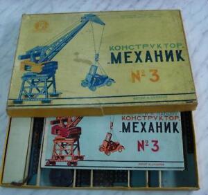 tiendas minoristas 1950s Antigua URSS Juego Infantil Infantil Infantil constructor mecánico  Envío 100% gratuito