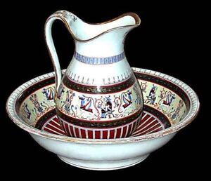 5825-RARE-PORCELAIN-EGYPTIAN-REVIVAL-WASH-SET-c-1865
