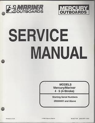 1999 Mercury Mariner Outboard 4 & 5 4-stroke Manual
