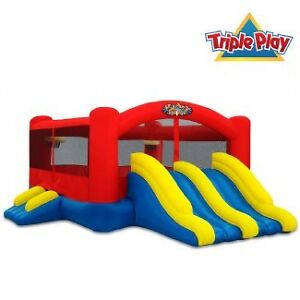 Triple Play Moonwalk Bounce House