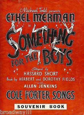 "Ethel Merman (Signed) ""SOMETHING FOR THE BOYS"" Cole Porter 1943 Souvenir Program"