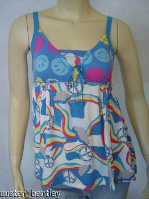Scanty Smiles Blue Rainbow Sweetheart Camisole S