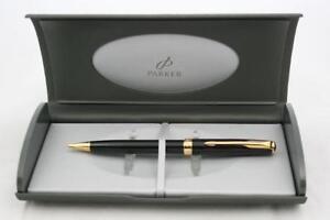 Parker Sonnet Mechanical Pencil Lacque Black Gold Trim NEW