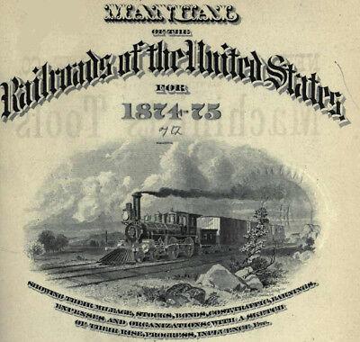 Poor&apos s Manual of Railroads 22 Volumes 1874 1903 DVD C661