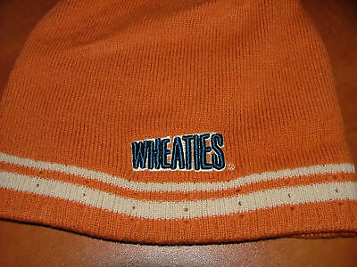 Wheaties Champions Cereal Orange Adult Mens Knit Stocking Winter Cap Hat