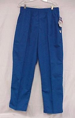 Crest Scrub Pants Royal Blue Elastic Waist Scrubs Poly Cotton Sm 178