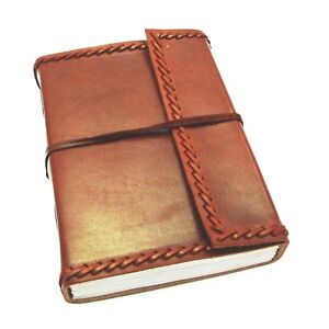 Fair-Trade-Handmade-Large-Eco-Stitch-Leather-Journal-Notebook-2nd-Quality