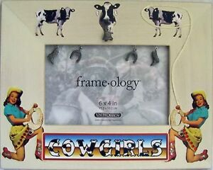 """COWGIRLS Western 4x6"""" Photo Picture Frame NEW Americana Cow Southwest"""