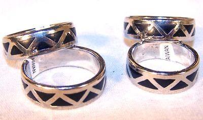50 Black Dia Wedding Band Ring Adult Jewelry Rings Bulk T...