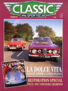 Classic-Sportscar-Dec-1987-Alfa-GT-Junior-Lancia-TR2