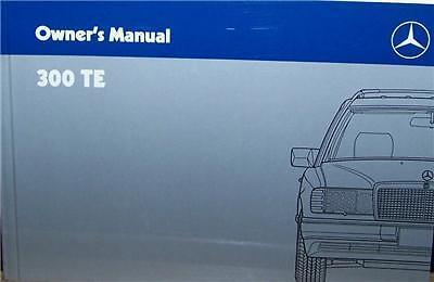 1988 Mercedes 300te Owners Manual Parts Service W124 Original