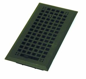 Steel Flat Black Mission Floor Register 4 X 14