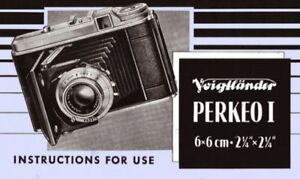 VOIGTLANDER-PERKEO-I-INSTRUCTION-MANUAL-FREE-SHIP