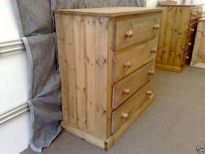Pine Factory Aylesbury Handmade Assembled 4 Dwr Chest No Flat Packs