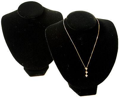 2 New Black Velvet Necklace Jewelry Display Busts 8