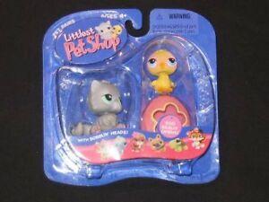 NEW-Littlest-Pet-Shop-Chick-w-Pink-Egg-amp-Gray-Cat