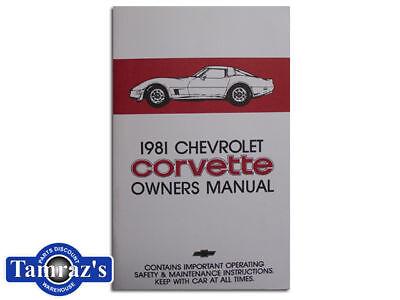 1981 Corvette Owners Manual