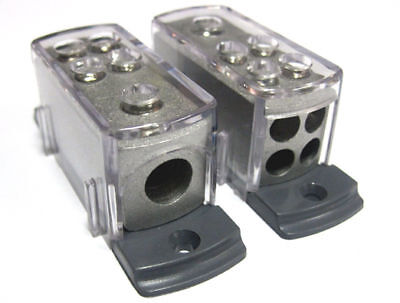 POWER/GROUND POWER DISTRIBUTION BLOCK 4 8 GAUGE CAR AMP