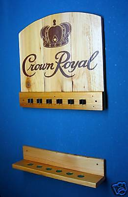 New Crown Royal Wall Mount Billiards Pool Cue Stick Rack