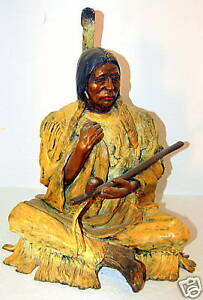Marie-Barbera-signed-Bronze-Sculpture-Old-Warrior