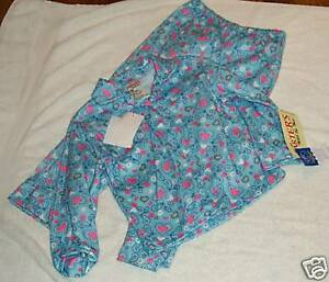 Girls-Carters-Brand-Blue-hearts-pajamas-size-4