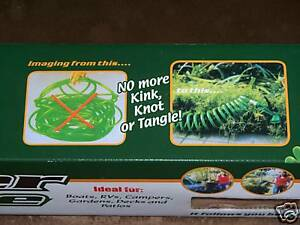 50-Coiling-Tangle-Free-Solution-SUPER-Garden-HOSE-with-4-function-sprayer-head