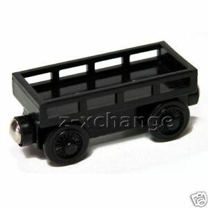 CARGO-CAR-BLACK-Thomas-Wooden-Tank-Engine-train-NEW