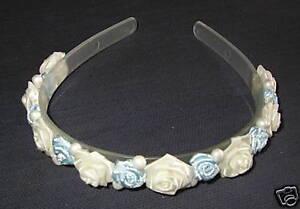 Bride-Bridesmaid-BLUE-IVORY-wedding-hairband-headband