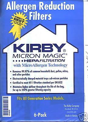 6 Kirby 3m Ultimate Diamond Vacuum Cleaner Filter Bag