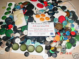 PACK-OF-250-CRAFT-BUTTONS-100g-VARIOUS-COLOURS-and-SIZES