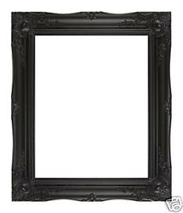 BLACK-WALL-MIRROR-WITH-ANTIQUE-STYLE-ORNATE-SHABBY-CHIC-FRAME