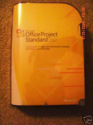 Microsoft Office Project Standard 2007  Sku 076 03745  Full  Sealed Retail Box