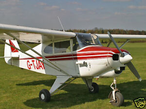 Giant 1/4 Scale Piper PA-22 Tri-Pacer Plans &Templates