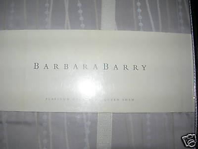 Barbara Barry Platinum Necklace Queen Pillow Sham
